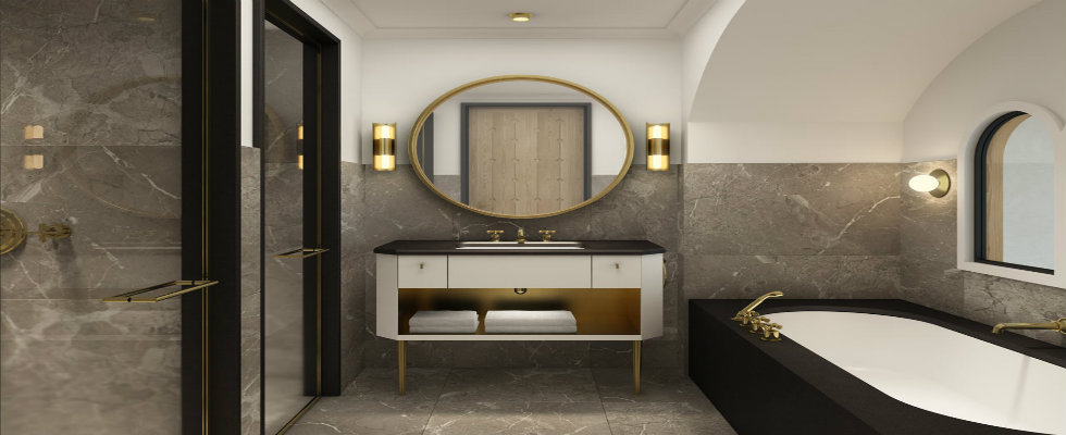 bathroom design Best Interior Designers Ideas to create a Luxurious Bathroom Design david collins feature