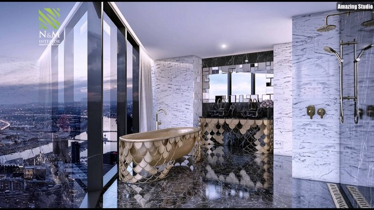 luxury bathrooms ideas with a calming retreat maison valentina Koi collection
