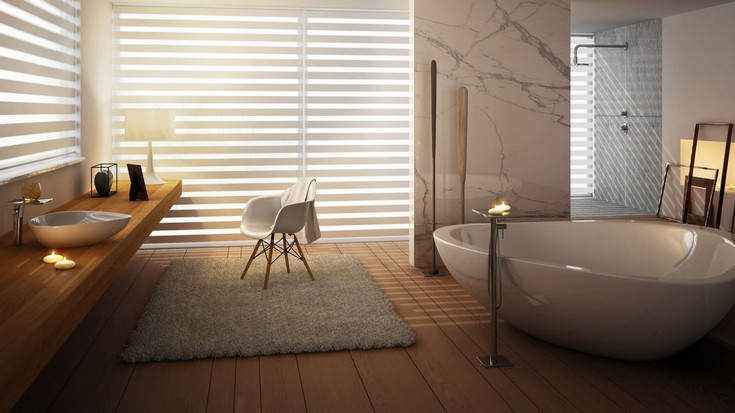 luxury bathrooms ideas with a calming retreat