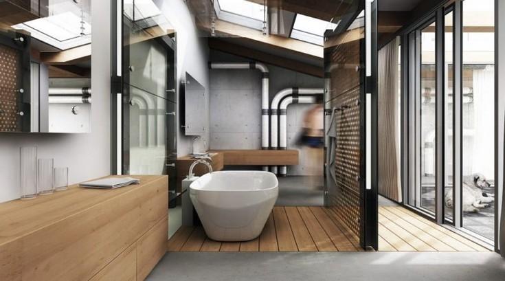 10 Industrial Bathroom Design Ideas 6 industrial bathroom 10 Industrial Bathroom Design Ideas For Open Minded Persons 10 Industrial Bathroom Design Ideas 6