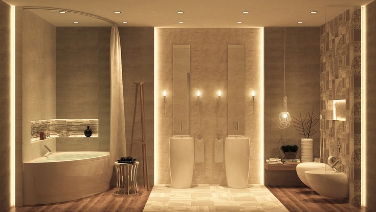 Luxury Bathrooms With Graceful Details By Ahmed Mady