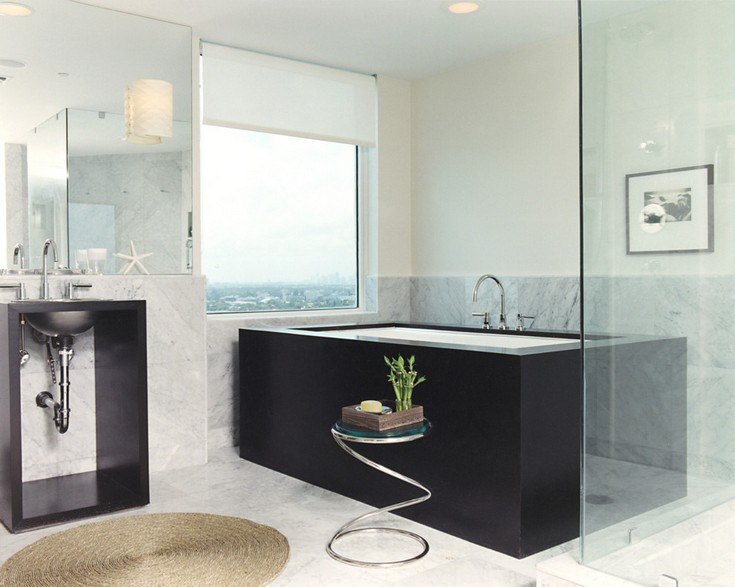 modern-window-treatment-Bathroom-Contemporary-with-bathroom-furniture-deck-mount  10 Luxury Bathrooms With Impressive Side Tables modern window treatment Bathroom Contemporary with bathroom furniture deck mount