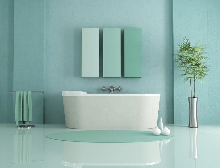 minimalist bathroom pastel bathrooms Pastel Bathrooms Design Ideas for 2016 That You'll Love turquoise pastel bathroom large