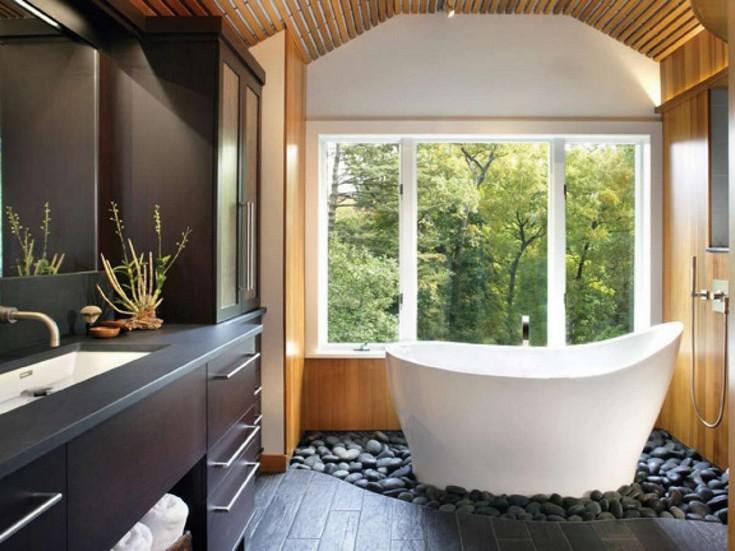 esempio di bagno zen spa bathroom Create Your Own Spa Bathroom with Pebbles. Create Your Own Spa Bathroom with Pebbles