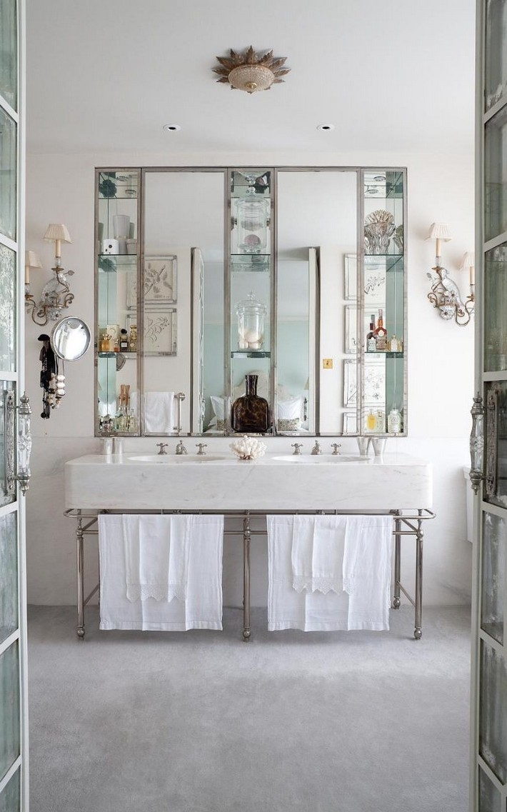 Bathroom inspiration: ideas to steal from three glamorous spaces