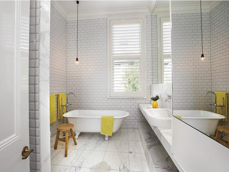 5 white bathrooms