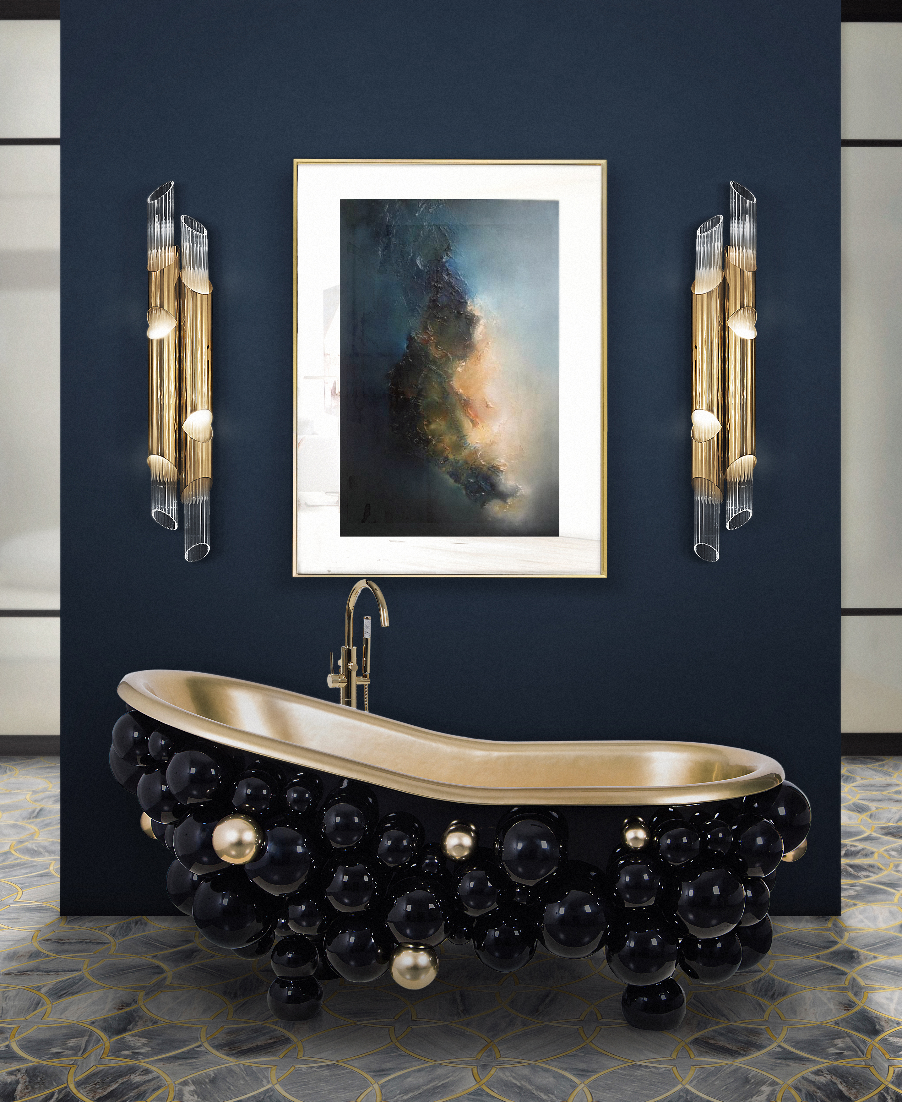 Hot Bathroom Colors 2017: Crisp, Cool Blues, Hot Reds, You Name It. You Can Be