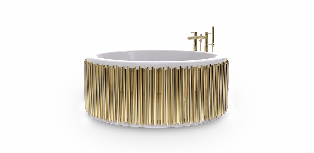 the perfect way to introduce metallics into your bathroom the perfect way to introduce metallics into your bathroom The perfect way to introduce metallics into your bathroom Unique Collection of Stunning Bathtubs For Luxury Bathrooms 6