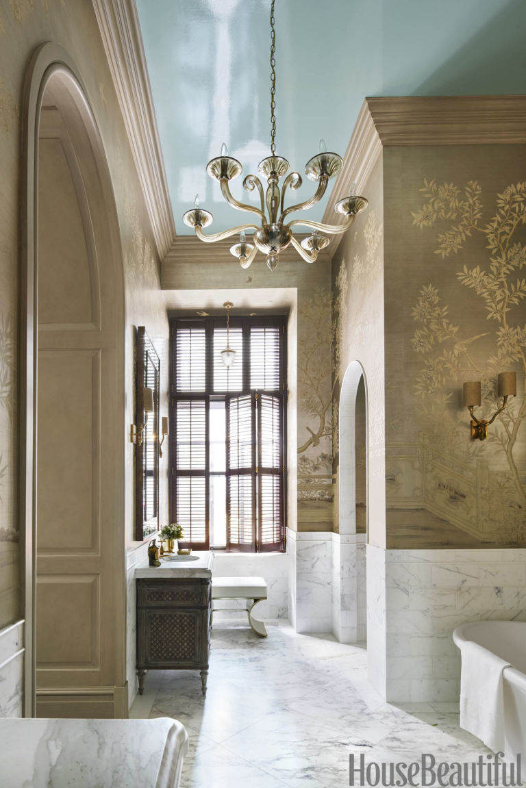 Bathroom Tour: Luxurious Manhattan Bathroom Bathroom Tour: Luxurious Manhattan Bathroom Bathroom Tour: Luxurious Manhattan Bathroom gallery 1480436551 blue bathroom ceiling