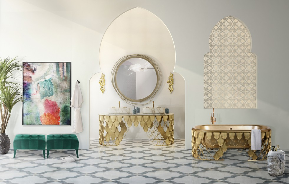 Beautiful moroccan style ideas for your luxury bathroom for Luxury bathroom accessories india