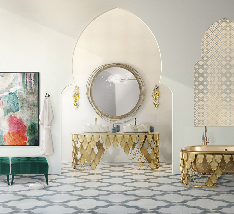 Bathroom Design Ideas With Contrasting Color Schemes
