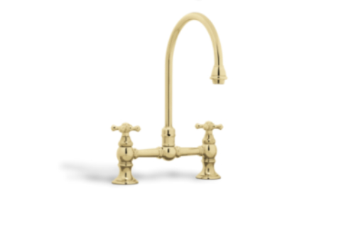 Golden and Luxurious Taps Golden and Luxurious Taps 4 Golden and Luxurious Taps for Any Bathroom victorian two hole mixer tap 1 HR