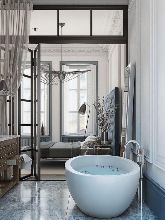 Incredible Open Bathroom Concept for Master Bedroom