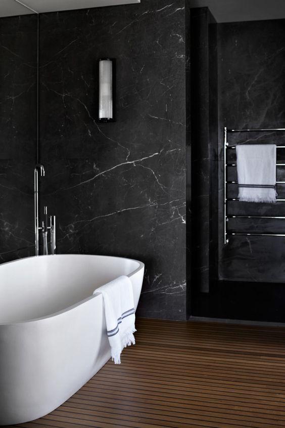 black marble,luxury bathrooms, marble bathroom  black marble Join the Dark Side: Black Marble for Luxury Bathrooms black marble bathrooms 7