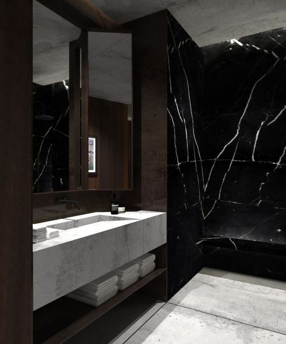 Join the Dark Side: Black Marble for Luxury Bathrooms