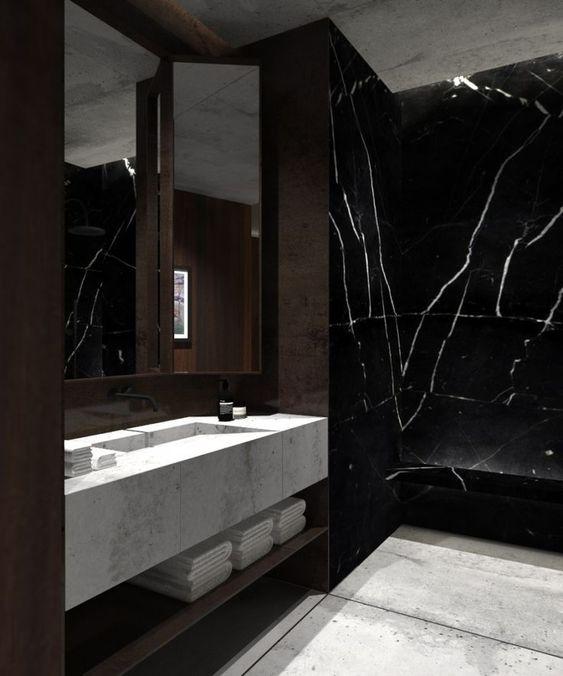 black marble,luxury bathrooms, marble bathroom  black marble Join the Dark Side: Black Marble for Luxury Bathrooms black marble bathrooms