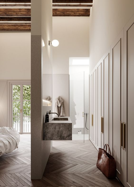 master bedroom with open bathroom. Master Bedroom Incredible Open Bathroom Concept For With