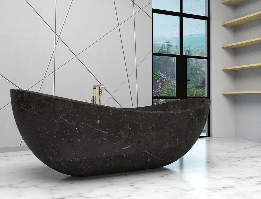 black bathtubs Black Bathtubs – A Statement of Elegance Black Stone Marble Bathtub Gratnie Bathtubs