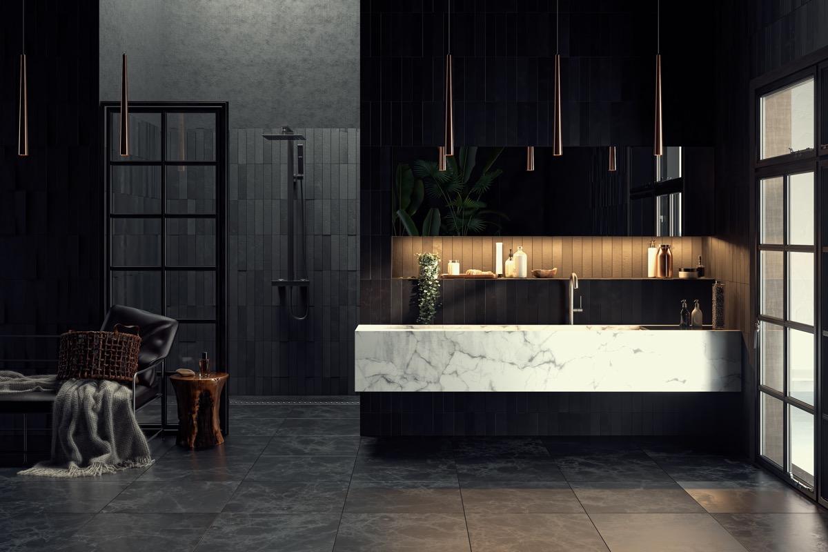 beautiful black bathroom design ideas Beautiful Black Bathroom Design Ideas Dark bathrooms